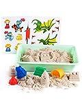 GenioKids Smart Sand Burgenförmchen Spielset Kinetischer Sand 1kg