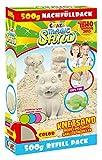 Craze 59761 Kinetischer Indoorsand Magischer Magic Refill Pack, 500 g Sand, Sortiert, Bunter...