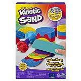 Kinetic Sand 6053691 - Regenbogen Mix Set mit 383 g Kinetic Sand