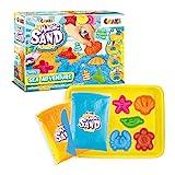 CRAZE Magic Sand Sea Adventures 600 g bunter Kinetischer Indoorsand mit Förmchen 28605