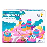 GenioKids Smart Sand Cupcakes Set kinetischer Sand 0,5kg Pink, 0,5kg Blue, 8 Molds