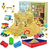 CROSOFMI Magic Sand Für Kinder Set Spielsand Faltbarer Sandkasten für Jungen Mädchen 3 4 5 6 7+...