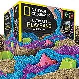 National Geographic Spielsand-Kombipackung – je 2 Pfund Blauer, lilafarbener und naturfarbener...